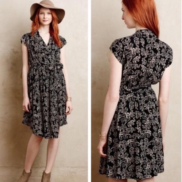 4162fb4915b7 Anthropologie Dresses & Skirts - Anthropologie Maeve Noronha Wrap Dress